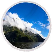 Round Beach Towel featuring the photograph Milford Sound #2 by Stuart Litoff