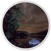 Milky Way At Gwenant Round Beach Towel