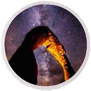 Milky Way Explorer Round Beach Towel