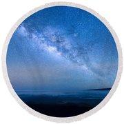 Milky Way Suspended Above Mauna Loa 1 Round Beach Towel