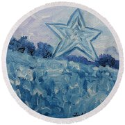 Mill Mountain Star Round Beach Towel