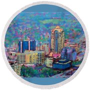 Mill Mountain View Round Beach Towel