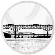 Millard Tydings Memorial Bridge Round Beach Towel