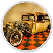 Millers Chop Shop 1929 Dodge Victory Six After Round Beach Towel