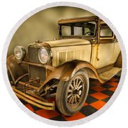 Millers Chop Shop 1929 Dodge Victory Six Before Round Beach Towel