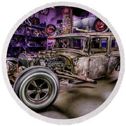 Millers Chop Shop 1929 Ford Murray Round Beach Towel