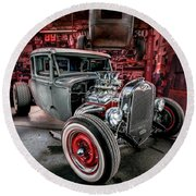 Millers Chop Shop 1931 Ford Coupe Round Beach Towel