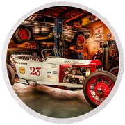 Millers Chop Shop Track T Toyota Round Beach Towel
