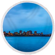 Round Beach Towel featuring the photograph Milwaukee Skyline - Version 2 by Steven Santamour