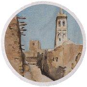 Minaret Of Sidi Okba, 18th April 1889  Round Beach Towel