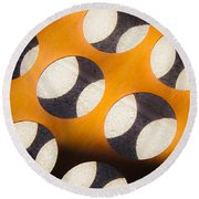 Mind - Hemispheres  Round Beach Towel