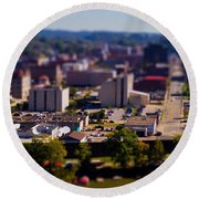 Mini Downtown Parkersburg Round Beach Towel