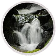 Mini Waterfall 2 Round Beach Towel