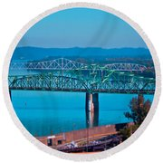 Miniature Bridge Round Beach Towel