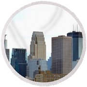 Round Beach Towel featuring the photograph Minneapolis by Will Borden