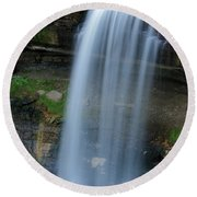 Minnehaha Falls Round Beach Towel