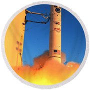 Minotaur Iv Rocket Launches Falconsat-5 Round Beach Towel