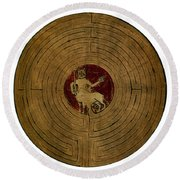 Minotaur, Legendary Creature Round Beach Towel