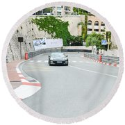 Mirabeau Bas Corner At Monaco Round Beach Towel