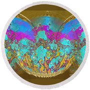 Miracles. Holiday Collection Round Beach Towel by Oksana Semenchenko
