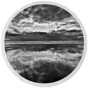 Mirror Explosion Round Beach Towel