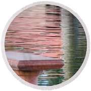 Round Beach Towel featuring the photograph Mirror To The Soul by Deb Halloran