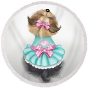 Miss Pretty Round Beach Towel