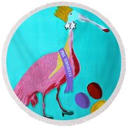 Miss Universe Round Beach Towel