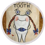Missing Tooth Round Beach Towel