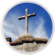 Mission Cross Round Beach Towel by Shoal Hollingsworth