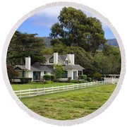 Mission Ranch - Carmel California Round Beach Towel