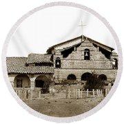 Mission San Antonio De Padua California Circa 1885 Round Beach Towel