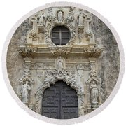 Mission San Jose Doorway Round Beach Towel