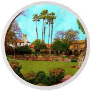 Mission San Juan Capistrano No 11 Round Beach Towel