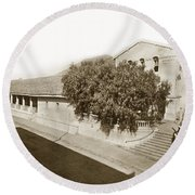 Mission San Luis Obispo De Tolosa California 1880  Round Beach Towel by California Views Mr Pat Hathaway Archives