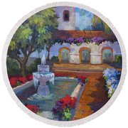 Mission Via Dolorosa Round Beach Towel