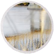 Mississippi Reflection Round Beach Towel