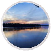 Missouri River Blues Round Beach Towel