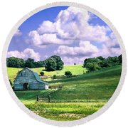 Missouri River Valley Round Beach Towel