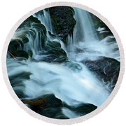 Misty Falls - 72 Round Beach Towel
