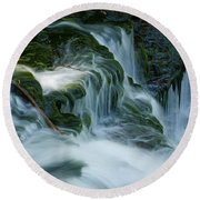 Misty Falls - 74 Round Beach Towel