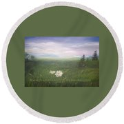 Misty Meadow Isaiah  Round Beach Towel