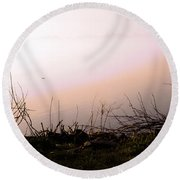 Round Beach Towel featuring the photograph Misty Morning by Robyn King