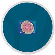 Mixed Round Beach Towel by Catherine Lott