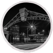 Mke Third Ward Round Beach Towel
