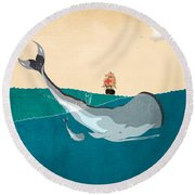 Moby Round Beach Towel