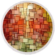 Modern Abstract Viii Round Beach Towel by Lourry Legarde
