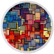 Modern Abstract Xii Round Beach Towel