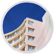 Round Beach Towel featuring the photograph Modern Curves by Keith Armstrong