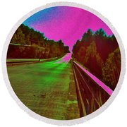 Round Beach Towel featuring the photograph Moffit Bridge And Maple Ridge Rd. by Daniel Thompson